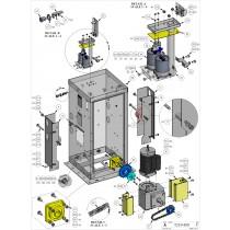 DKS DoorKing 2600-630 Left Joint Arm Cover