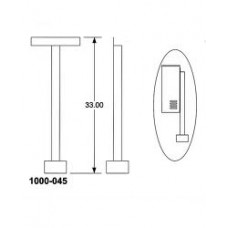 DKS DoorKing 1000-045 Mounting Post Kit