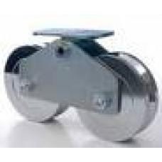 DKS DoorKing 1201-210 6-inch Tandem Steel Wheel Assembly