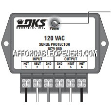 DKS DoorKing 1879-080 High Voltage Surge Suppressor
