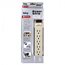 TR-PS09S-6 POWER 6 OUTLET / 6ft cord Power Strip w/ Surge Protection