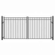 Madrid Style Swing Dual Steel Driveway Gates 16' X 6 1/4'