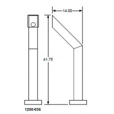 DKS DoorKing 1200-036 Small Architectural Offset Post, Pad Mount