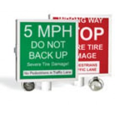 DKS DoorKing 1615-081 Warning Sign, Auto-Spike System