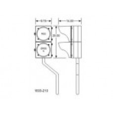 DKS Doorking 2600-705 Bracket Panel Base