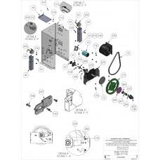 DKS DoorKing 2600-861 Solenoid Lock Assembly