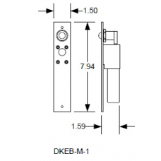 DKS DoorKing DKEB-M-1 Fail-Safe Dead-Bolt
