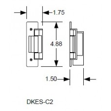 "DKS DoorKing DKES-C2-1FX Electric Strike 20/32"""