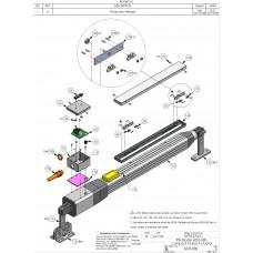 DKS DoorKing 2600-280 Motor 1 Hp CFce PSC 1725 230V1P