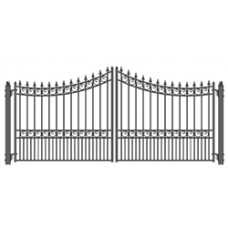 Moscow Style Swing Dual Steel Driveway Gates 12' X 6 1/4'