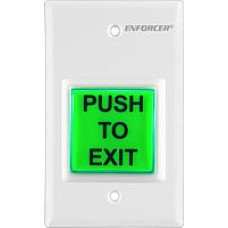 Seco-Larm SD-7223GW-LQ Enforcer Push-to-Exit Plate, Illuminated, White