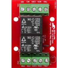 Seco-Larm SR-1212-C7ALQ 3~24 VDC, relay board. 12/24 VDC, two relays