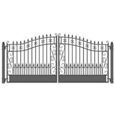 Venice Style Swing Dual Steel Driveway Gates 14' X 6 1/4'